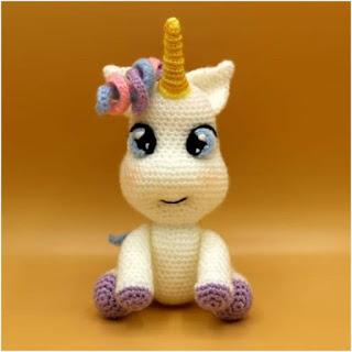 patron amigurumi Unicornio bebé sueños blanditos