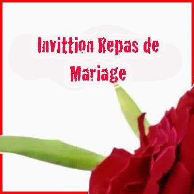 id e texte faire part mariage repas invitation mariage carte mariage texte mariage. Black Bedroom Furniture Sets. Home Design Ideas