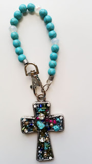 Colorful Cross Purse Charm, Charm for your purse, shoulder bag charm, backpack charm, ornament