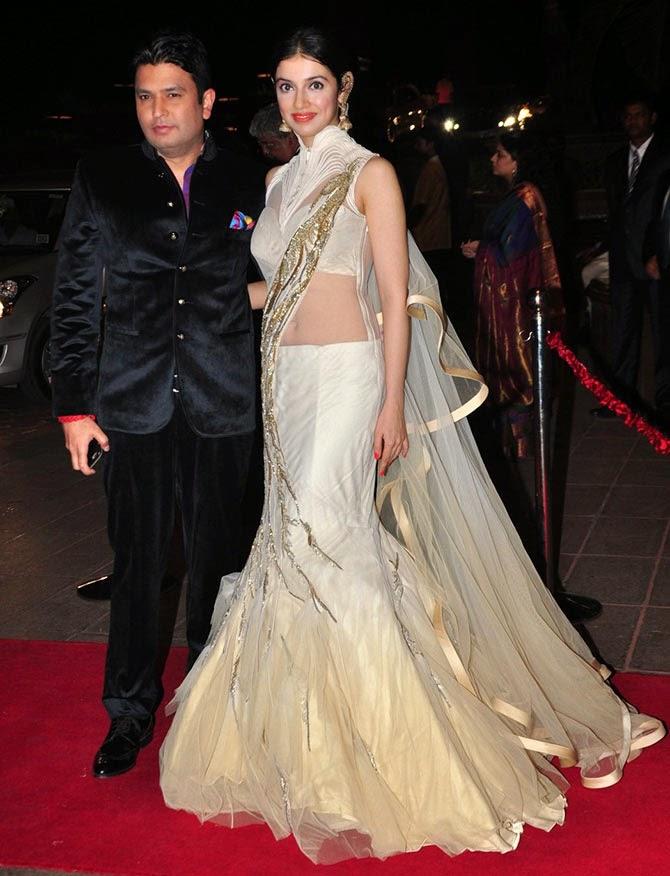 Bhushan Kumar along with wife Divya Khosla