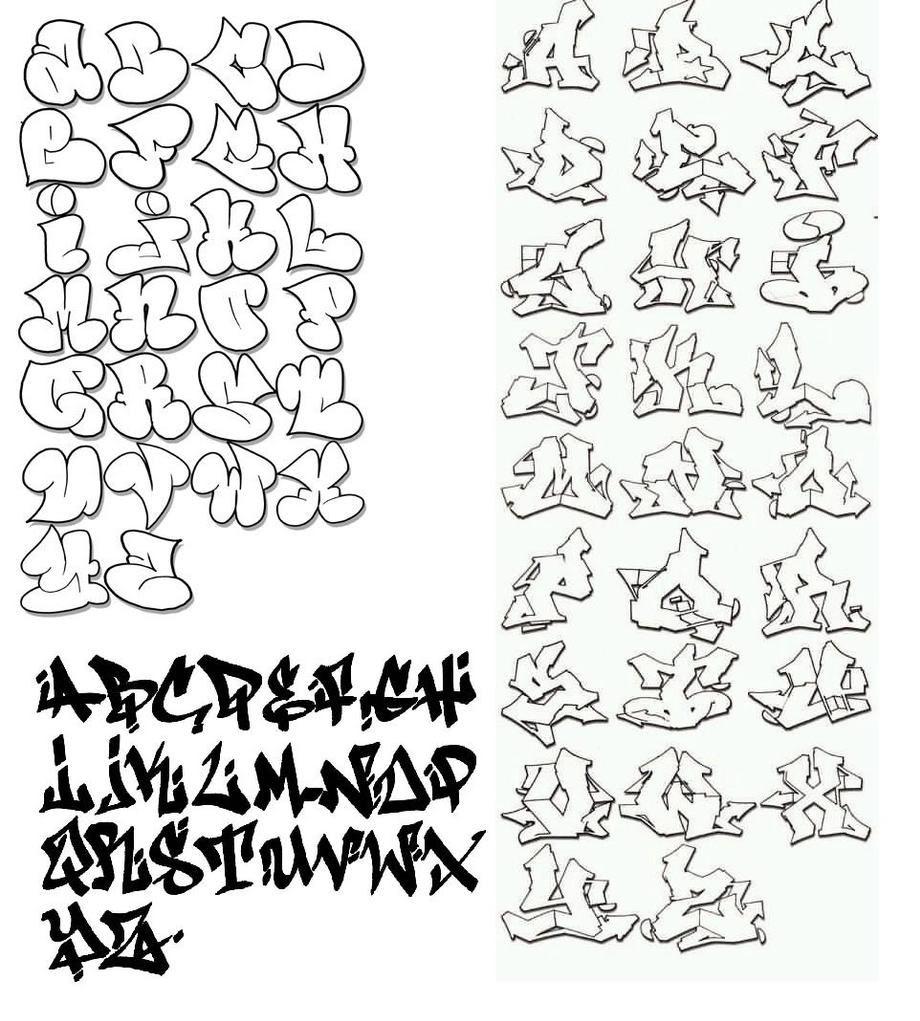 Bubble Graffiti Writing Alphabet