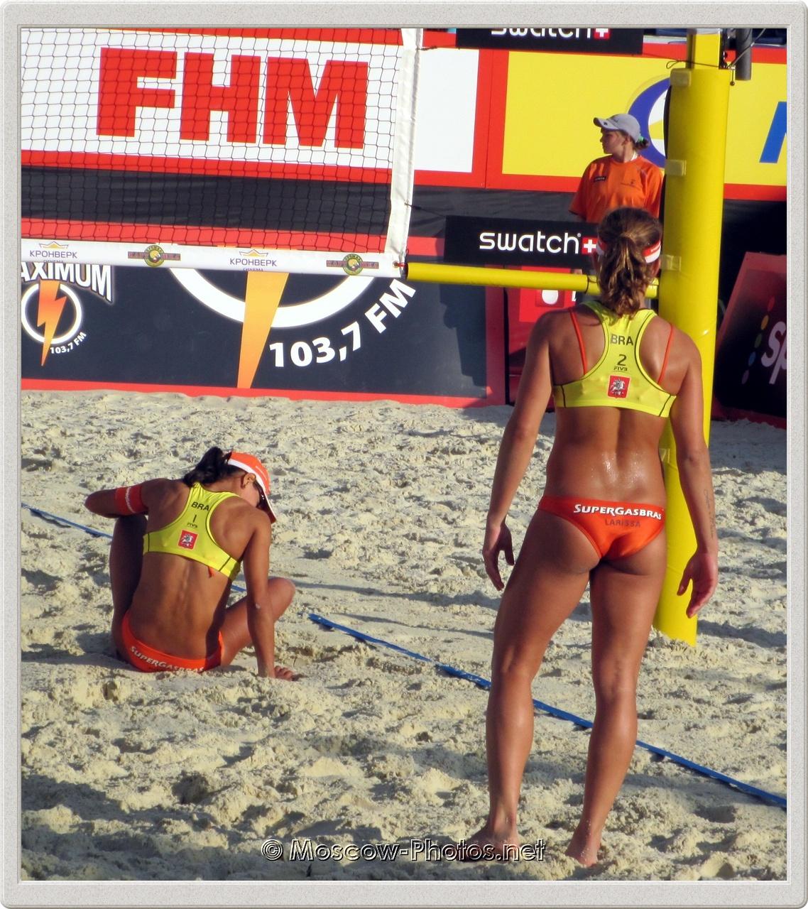 Brazilian Team - Juliana Felisberta Da Silva &  Larissa Franca in Moscow