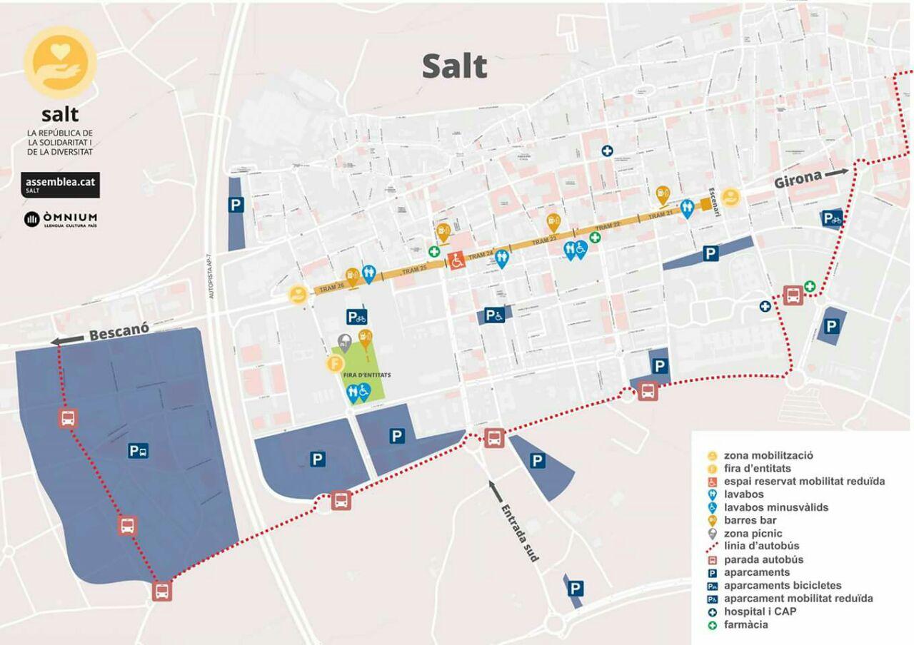 Mapa Trams Diada 2018.Anc Arbucies Diada 2016 A Salt
