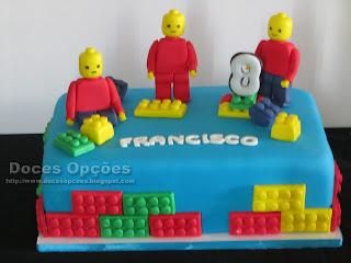 Bolo de aniversário Lego