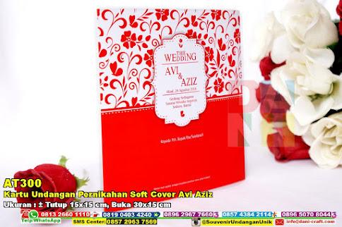 Kartu Undangan Pernikahan Soft Cover Avi Aziz