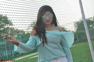 Madhulagna Das looks super cute in White Shorts and Transparent Top 26.JPG