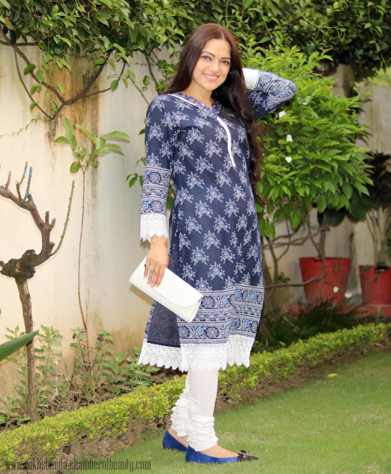 All blue OOTD with Styletag.com, Online shopping experience with Styletag.com, how to wear a blue kurti, ethnic outfit,Indian fashion blogger, Chamber of Beauty