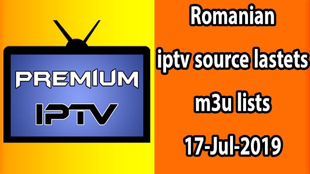 Romanian iptv source lastets m3u lists 17-Jul-2019