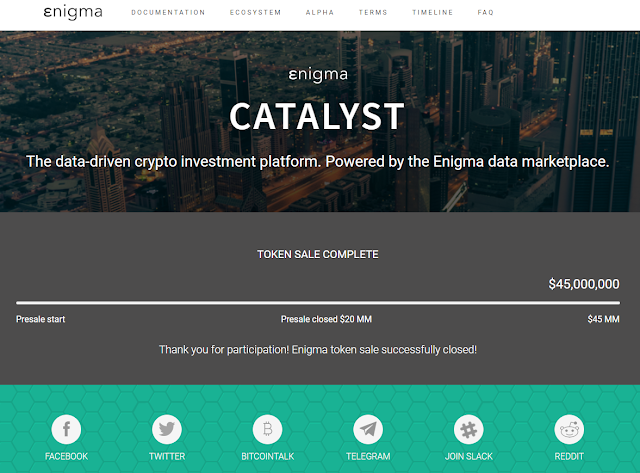 The Enigma Catalyst Initial Coin Offering