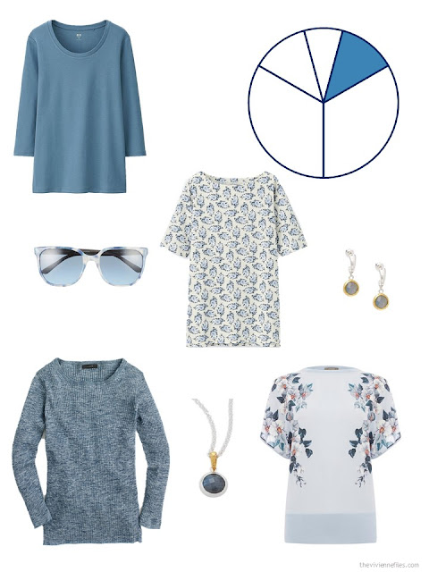 travel capsule wardrobe additions in medium soft blue