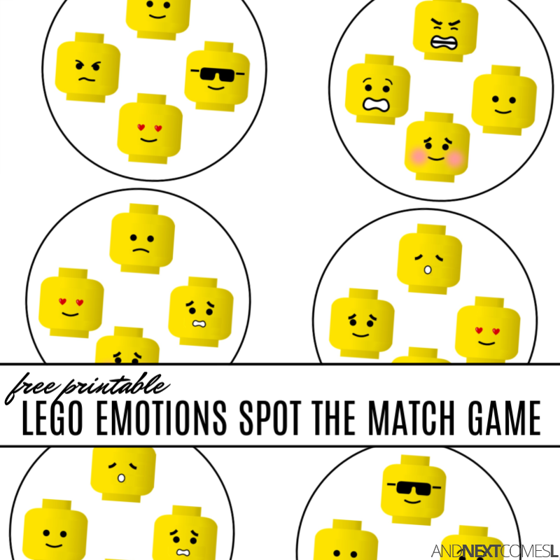 photograph relating to Printable Match Game identified as Absolutely free Printable LEGO Feelings Desired destination the Sport Recreation And Upcoming