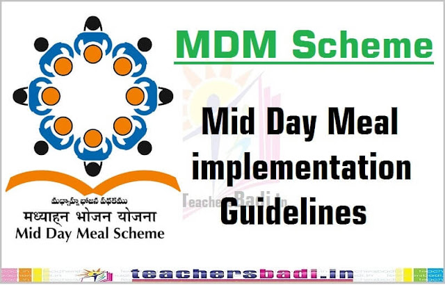 MDM,Mid Day Meal,implementation Guidelines