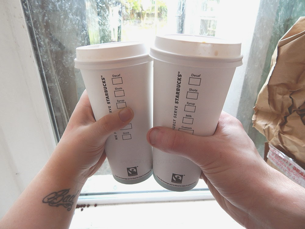 Starbucks cups coffee Valentine's Day