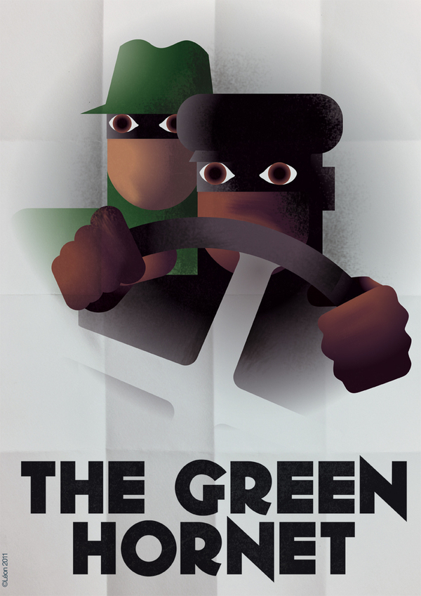 The Green Hornet Art Deco