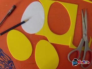 tagliare la gomma crepla per creare uovo