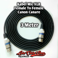 Kabel Mic XLR Female To Female Canon Canare 3 Meter