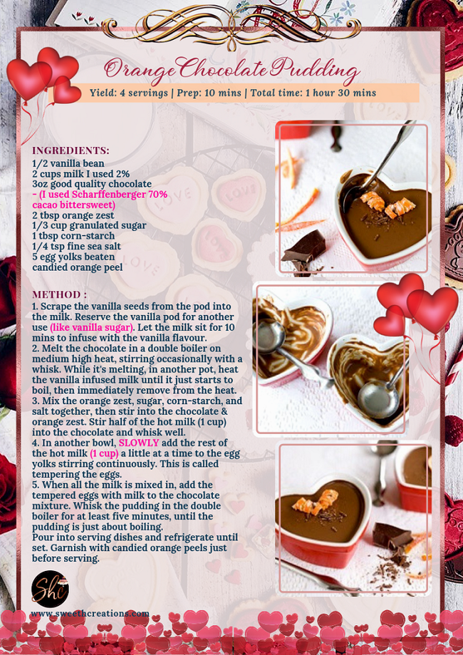 ORANGE CHOCOLATE PUDDING RECIPE