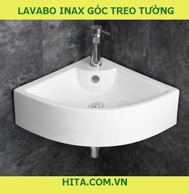 Lavabo Inax góc treo tường là mẫu chậu rửa đẹp nhất