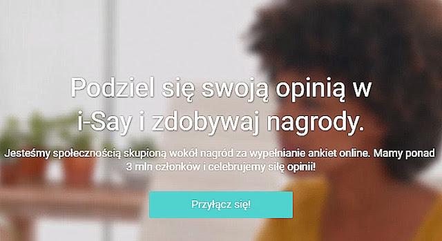 i-Say.com — wypłaty za wypełnianie ankiet na PayPal.
