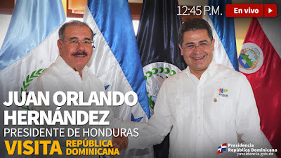 EN VIVO: Presidente de Honduras visita República Dominicana