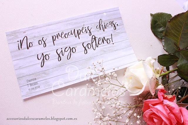 Cartel boda, niño sigo soltero