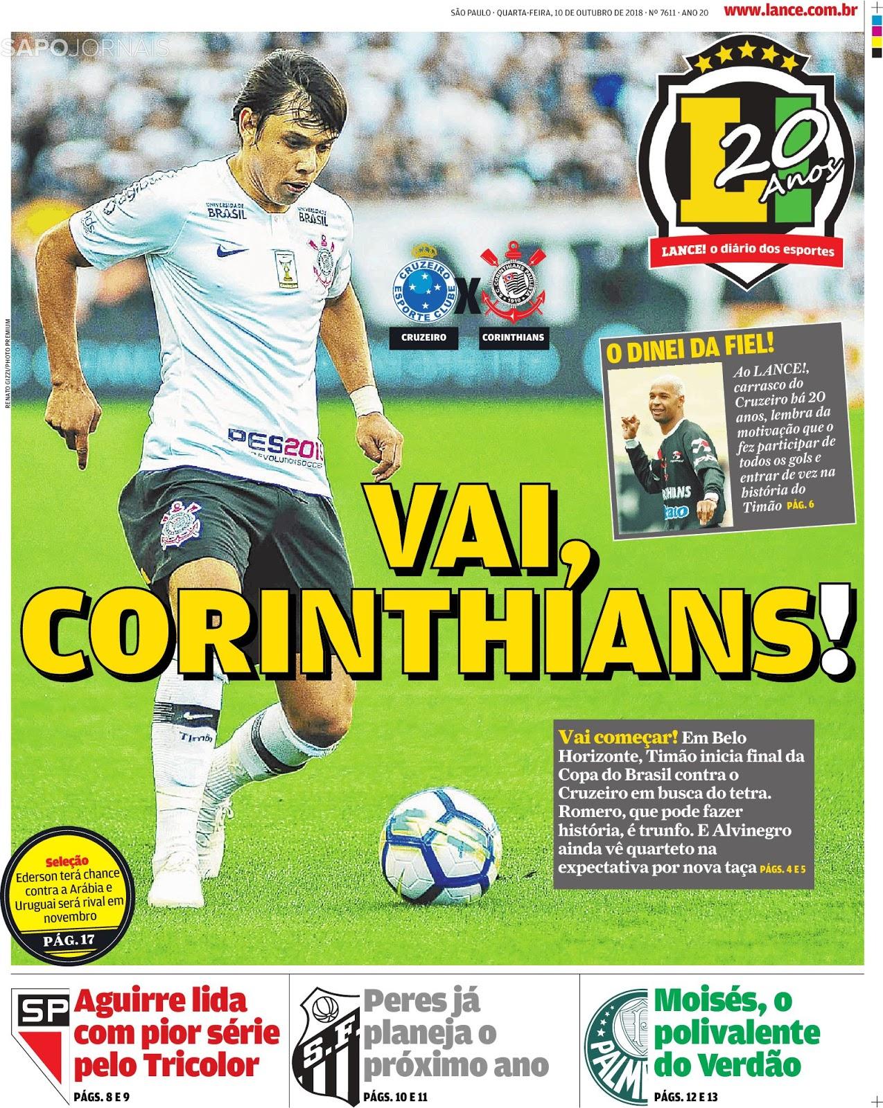 Espresso ⚽ Os opostos se atraem  o jogo de xadrez entre Corinthians e  Cruzeiro pela final da Copa do Brasil a3c390b66f0e4