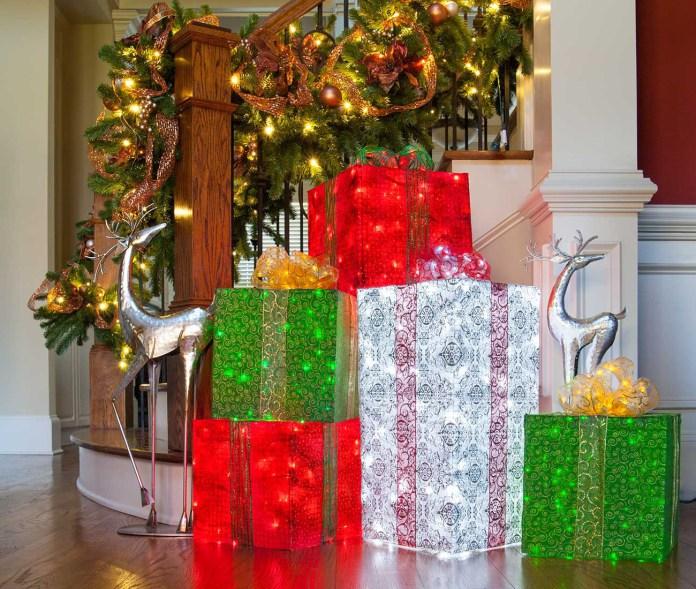 Cajas De Regalo Para Decorar Exteriores En Navidad Lodijoella - Decoracion-navidea-para-exterior