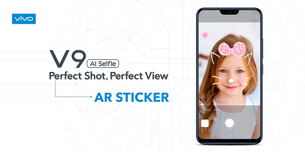Vivo v9 AI camera VR stickers
