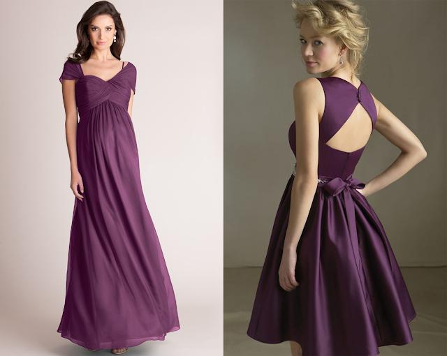 Vestido Dama de honra - Modelos diferentes com cores iguais