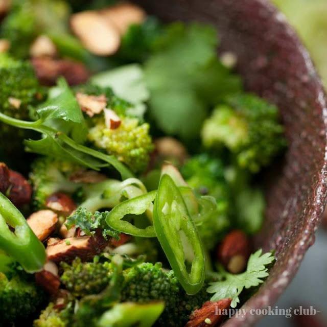 Warm Broccoli Salad With Kale, Lime + Tamari Almonds