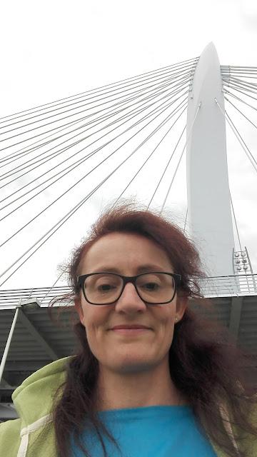 Selfie tijdens een fietstocht bij de Prins Clausbrug in Utrecht.