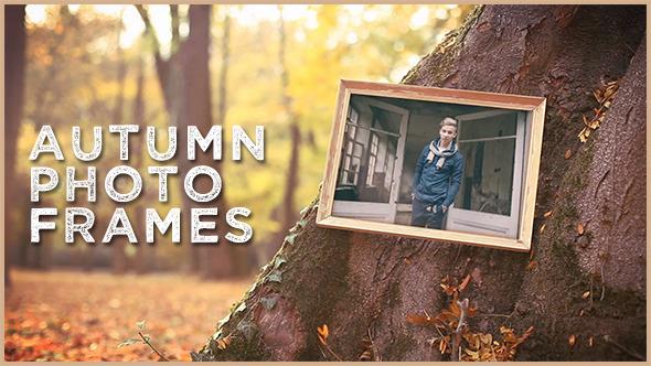 قالب افتر افكت مجاني - عرض الصور داخل اطارات مع اوراق الخريف للافتر افكت CS5 - CC 2015