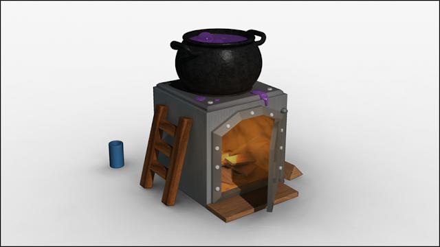 Fanart da Fornalha em 3D (Desenho + Animação) - 2