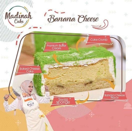 Banana cheese madinah cake