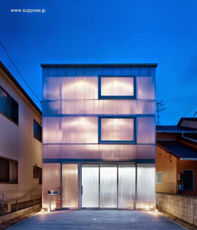 Fachada translúcida en Hiroshima, Japón 2012