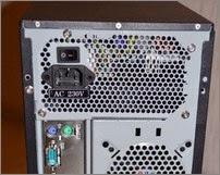 Блок питания компьютера (кулер внизу)