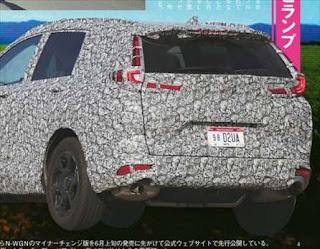 ホンダ CR-V フルモデルチェンジ リア画像 写真