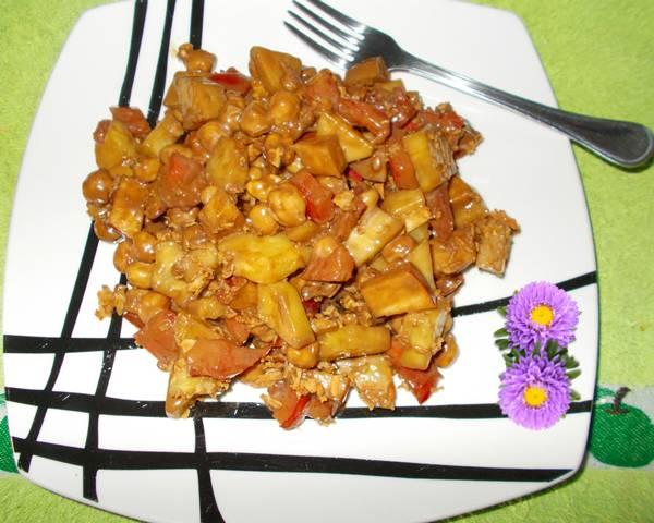Salada de grão de bico light e crocante