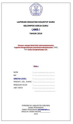 Contoh Laporan KKG Materi Bedah Silabus Kelas 4 SD MI (Lampiran Berkas Pengajuan DUPAK Tahunan)/Kenaikan Pangkat PNS/ASN