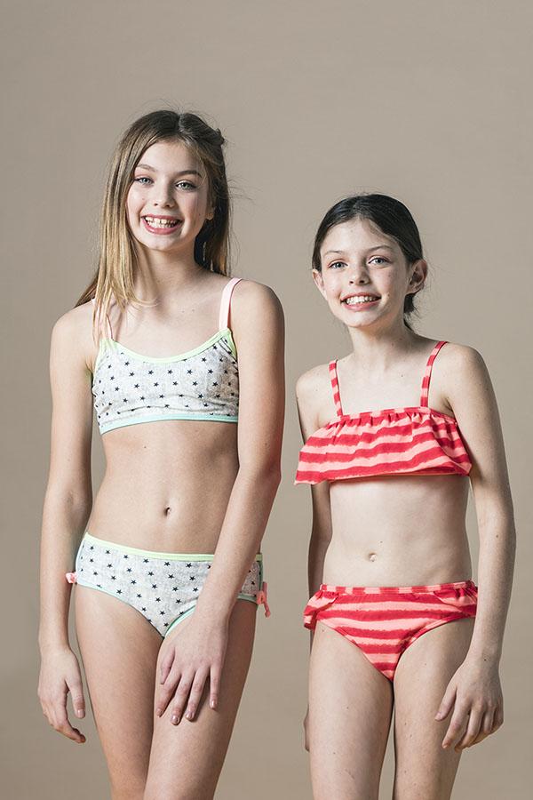 Bikinis 2018 para niñas. Moda niñas 2018.