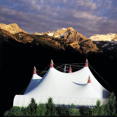 The festival tent - Gstaad Menuhin Festival