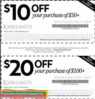 Kirklands printable coupon december 2018