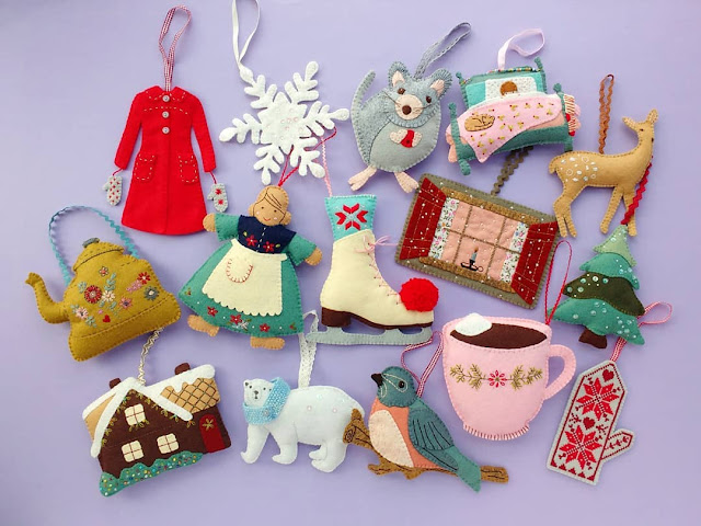 Fifteen Felt Christmas Ornaments Finally Finished!