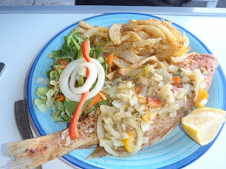 Côte d'Ivoire African Fried Fish Attiéké Poisson Grille