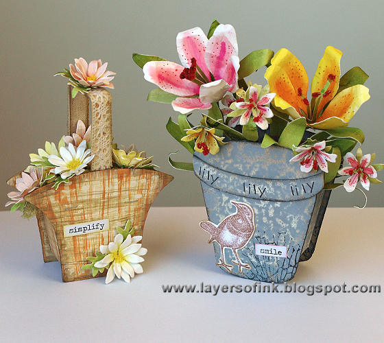 Flower Pot and Basket - Layers of ink