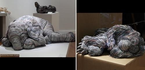 00-Hitotsuyama-Studio-Chie-Hitotsuyama-Upcycling-Paper-to-make-Animal-Sculptures-www-designstack-co