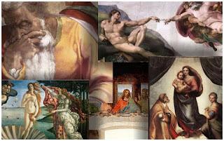 Obras renascentistas para colorir - www.professorjunioronline.com