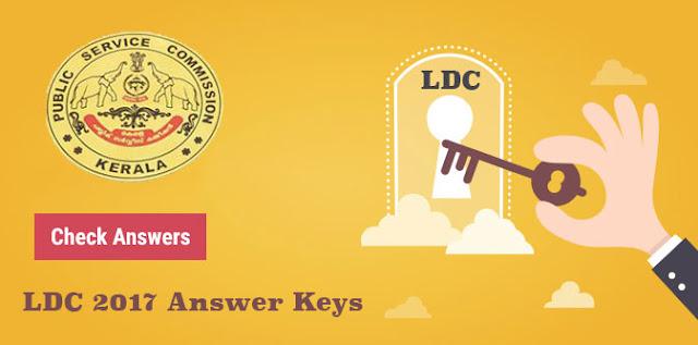PSC LDC Answer Keys 2017