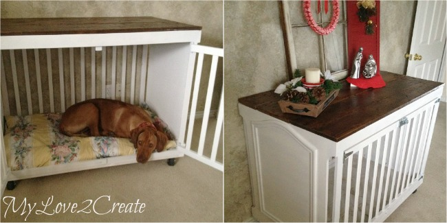 Turn an old Crib into an awesome Dog Crate, MyLove2Create