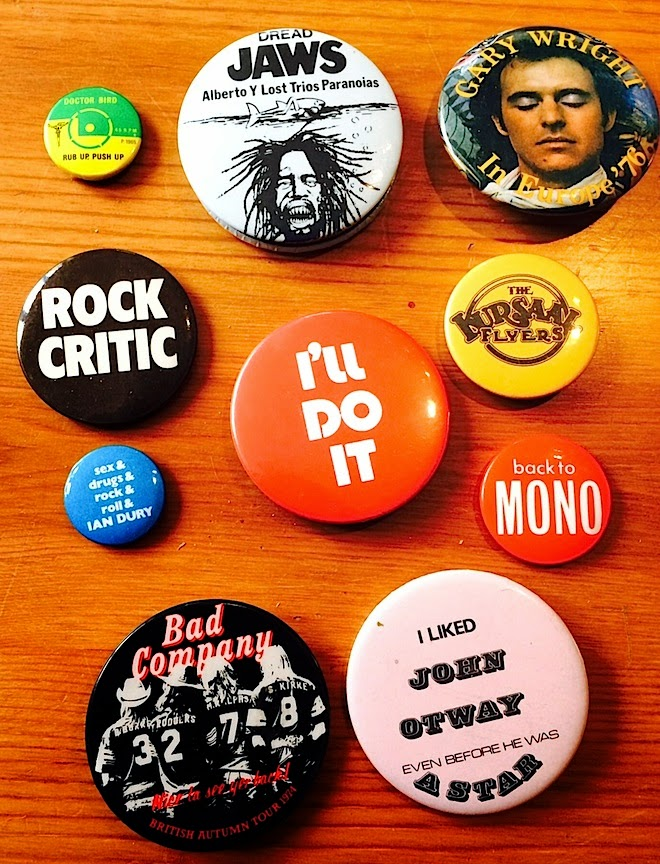 Jot101: Small collection of rock lapel badges (pins) 2